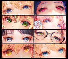 tocope ▶ Sunday / West / on - Hidden Beauty ✨ - Eye Drawing Tutorials, Digital Painting Tutorials, Digital Art Tutorial, Art Tutorials, Anime Kunst, Anime Art, Manga Eyes, Anime Eyes Drawing, Eyes Artwork