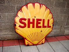 Antique Shell Gasoline Porcelain Signs