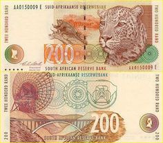 Banknotes of the World - Banknotes gallery Paper Money from of around the world Money For Nothing, Muse Art, World Coins, African History, Fauna, In Kindergarten, South Africa, Vintage World Maps, Stamp