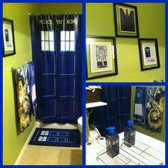 The actual inside of The TARDIS with blue door