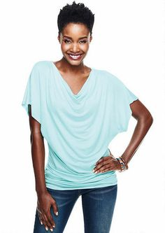 Ruched Band Dolman Drape Neck Tee - View All Alloy Plus - Alloy Plus - Whats New - Alloy Apparel