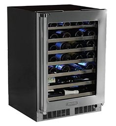Marvel MP24WSG4RS Professional Single Zone Wine Cellar Framed Glass Door 24 Stainless Steel * Check out the image by visiting the link.