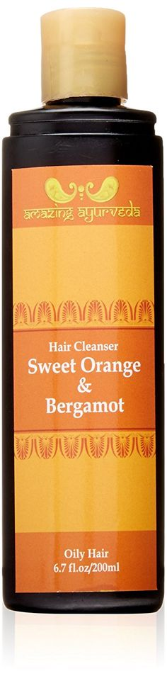 Amazing Ayurveda Nourishing Hair Cleanser, Sweet Orange and Bergamot, 6.7 Fluid Ounce >>> Click image to review more details.