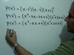 Determinar un polinomio si se conocen sus ceros: Julio Rios explica cómo encontrar un polinomio si se conocen sus ceros o raíces