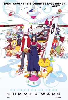 "So here... I am going to review ""Summer Wars"" for all of you because you should watch it... So around three months ago i got this out at the library and I never watched it up until last night ..... And yes it was wayyyy over due so i had to... And I want you to know that it was really good and inspiring, at first it is like blahhh but in the end it showcases how families can accomplish so much if they just work together!! (≧▽≦) watch it!!"