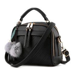Women PU Leather Handbags Shoulder Bags Top-handle Tote Ladies Purses Crossbody Bags