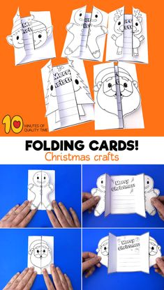 Diy christmas cards 372672937912568094 - Christmas Folding Cards Source by alissaharber Christmas Party Games, Christmas Crafts For Kids, Christmas Activities, Xmas Crafts, Christmas Printables, Christmas Colors, Simple Christmas, Christmas Holidays, Paper Crafting