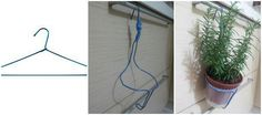 DIY pot holder using wire clothes hanger