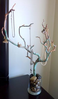 Jewelry Tree Manzanita Rusted Copper Jewelry by Gonnagethitched, $50.00