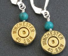 Bullet Earrings  Winchester 40 Smith and Wesson by CandSNoland, $34.00