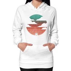 Driving into the sunset Hoodie (on woman)