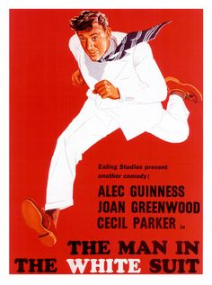 Classic Ealing comedy film. Love the use of red and white.