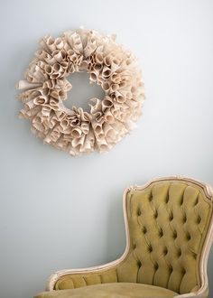 Recycled Book Wreath