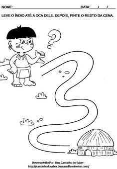 05.04 Atividade Para o Dia do Índio Para o Maternal e a Educação Infantil Para Imprimir