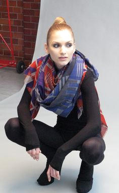 Behind the scenes at the photo shoot of our woolen scarves