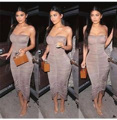 [New] The 10 Best Outfit Ideas Today (with Pictures) - Kylie Jenner Outfits, Kylie Jenner Vestidos, Kylie Jenner Mode, Looks Kylie Jenner, Kylie Jenner Long Hair, Ruched Dress, Strapless Dress Formal, Bodycon Dress, Party Dresses For Women