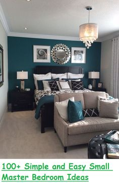 Awesome 100+ Simple and Easy Small Master Bedroom Ideas http://philanthropyalamode.com/100-simple-easy-small-master-bedroom-ideas/