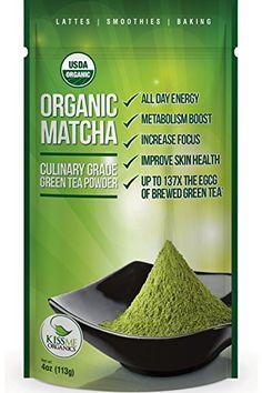 Matcha Green Tea Powder - Powerful Antioxidant Japanese Organic Culinary Grade - 113 grams (4 oz) Kiss Me Organics http://www.amazon.com/dp/B00DDT116M/ref=cm_sw_r_pi_dp_zHzcxb0XMASVD