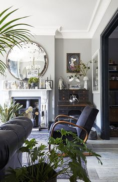 Cool Prints And Accessories In Unique London Home