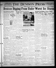 Daily newspaper from Denison, Texas that includes local, state and national news along with extensive advertising.