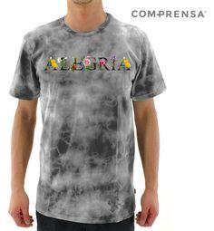 A grey tie-dye T-shirt, round neckline, short sleeves, a straight hem.  #manufacturer #barcelos #sweat #colours #tshirt #cotton #comprensa #fashion #model #fashion #design #company #textile #portugal #sublimation #screenprinting #digitalprint #laser #photoprint