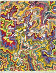 FRED TOMASELLI (B. 1956) Map of New Jerusalem, U.S.A.