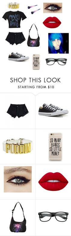 """""""Untitled #117"""" by keepcalmandlovebands ❤ liked on Polyvore featuring Converse, Lime Crime and ZeroUV"""