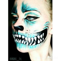 Cheshire cat from Alice in Wonderland inspired makeup Vandal_fx