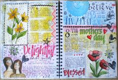 I love her journal style......Art du Jour by Martha Lever: Journal Page in the Big Journal