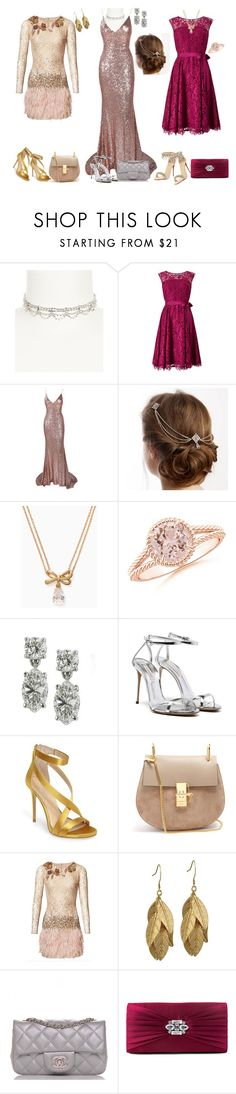"""""""Red carpet looks"""" by svetlozeme ❤ liked on Polyvore featuring Cezanne, Precis Petite, Kate Spade, Imagine by Vince Camuto, Chloé, Matthew Williamson, Chanel, Gunne Sax By Jessica McClintock and Christian Louboutin"""
