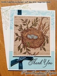 Paper Sunshine Project: Paper Pumpkin Alternatives May 2019 paper pumpkin Bird Paper Craft, Bird Nest Craft, Card Making Inspiration, Making Ideas, Bird Theme Nursery, Bird Cage Centerpiece, Stampin Up Paper Pumpkin, Pumpkin Cards, Bird Cards