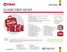 Fox 40 Classic First Aid Kit #Fox40Marine #Fox40Gear #Fox40Outdoor http://www.fox40shop.com/s.nl/sc.7/category.25156/.f