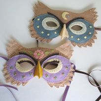 Owl Mask Tutorial--I don't think we need an owl but I love these and wonder if they could be adapted for other animals.