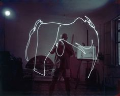 Ahead of His Time: Pablo Picasso Light Painting | Fstoppers