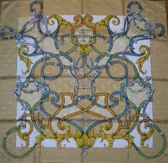 L'Instruction du Roy Hermes Jacquard silk...mounted horse woven design