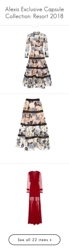"""""""Alexis Exclusive Capsule Collection: Resort 2018"""" by livnd ❤ liked on Polyvore featuring alexis, livndfashion, livndalexis, resort2018, dresses, floral, botanical dress, floral printed dress, flower design dresses and flower pattern dress"""