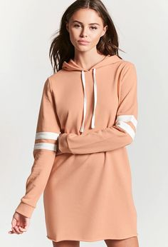 Varsity Hooded Sweatshirt Dress | Forever 21