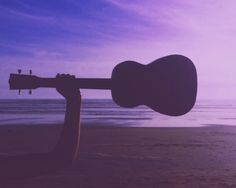 Ukulele on the beach