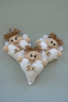 Ravelry: Little Valentine Angel with Heart pattern by Katka Reznickova - Pattern for purchase - $3.50.