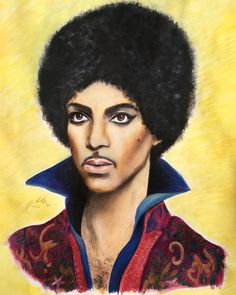 Prince - Watercolour paint and pencil, 2016, Victoria Mead   www.vmportraits.co.uk  #prince #artist #portrait #art