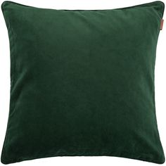 Gant Velvet Cushion - 50x50cm - Pine Green (£46) ❤ liked on Polyvore featuring home, home decor, throw pillows, green, american home decor, green home decor, green throw pillows, textured throw pillows and green toss pillows