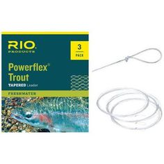 Rio Products Powerflex Trout Leaders 1X, Multicolor