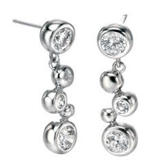 Click here to buy Fiorelli Silver Cubic Zirconia and Ball Drop Earrings from Something Elegant.