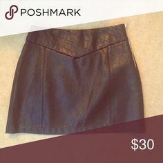 Mini skirt Zara faux leather mini never worn Zara Skirts Mini