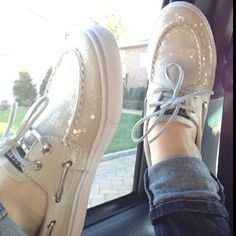 These sparkly Sperry's are so cute.