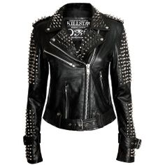 leather jacket with stud awesomeness