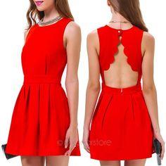 2014 nuevas mujeres atractivas del verano fiesta informal de noche Mini vestido corto rojo shiping libre FE3242 # m1 en Vestidos de Ropa y Accesorios de las mujeres en AliExpress.com | Alibaba Group