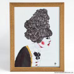 """Láminas personajes: """"Contemporary Geisha"""", ARTISTA - Paola I Santos. Dimensiones de las láminas: A4 / A3 Gramaje de la lámina: 160 gr. Desde 14€ #geisha #frenchstyle #hair #print #paolaisantos"""