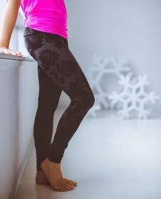 Lululemon. I have these pants!!!  They are super comfortable and really cute.