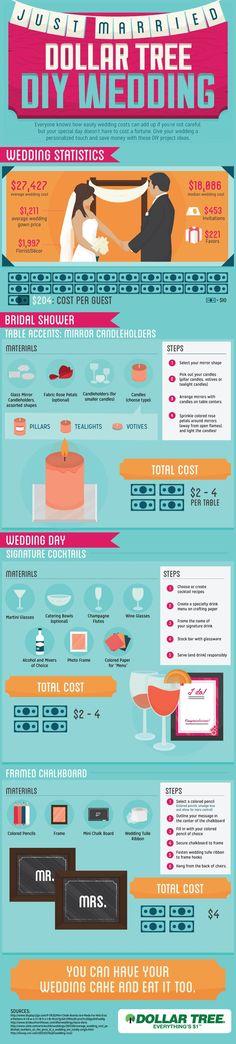 Dollar Tree #DIY #Wedding #infographic #weddinginfographic
